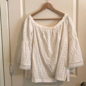 Loft white lace tunic